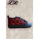 Leopard baby shoes - red