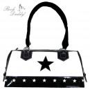 Handtasche mit Stern in schwarz/weiß