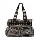 Großhandel Handtaschen:Gestreifte Handtasche