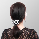 Hair Clip Retro 6 Series Display - Checkered - 3x