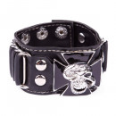 Artificial leather bracelet with metal buckle - sk