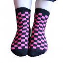 Großhandel Strümpfe & Socken:Pinke Karo Socken