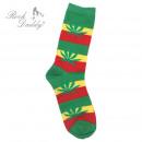 Großhandel Strümpfe & Socken: Rasta Marihuana Blatt Socken