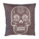 Paisley skull head pillow