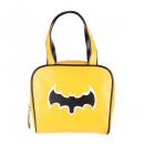 wholesale Handbags: Yellow bowling handbag with black bat