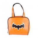 wholesale Handbags: Orange bowling handbag with black batman