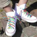 Großhandel Schuhzubehör: Regenbogen -gestreifte Schnürsenkel