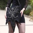 Gothic Schultertasche mit Ketten