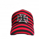 wholesale Licensed Products: Striped Iron Cross Fabric Cap