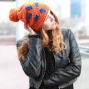 Großhandel Kopfbedeckung: Gehäkelte Winter Stern Mütze
