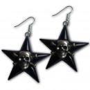 Acrylic earrings with eingestztem skull