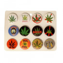 wholesale Toys: Marijuana Leaf Buttons Mixed