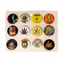 wholesale Toys: Marijuana Leaf Buttons Mixed