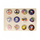 wholesale Toys: Peace Button Display Mixed