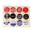 wholesale Toys: Funny sex sayings Button Display mixed