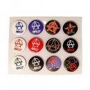 wholesale Toys: Anarchy Icons Buttons Mixed