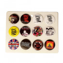 wholesale Toys: Punk Button Display Mixed