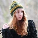 Grüne Vintage Wintermütze