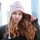 Großhandel Kopfbedeckung: Gewebte Prinzessin Wintermütze