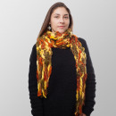 Großhandel Tücher & Schals: Orangen Saft Struktur Winterschal
