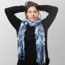 Großhandel Tücher & Schals: Eis Blau Struktur Winterschal