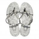 Großhandel Schuhe: Dupe Brazil Zehentrenner Brilliant 41 grau