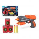 Pistolet à fléchettes souple gris orange 112956