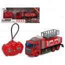 Équipe de sauvetage de camion de pompiers Radiocom