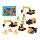 Véhicules de construction jaune 119398 (9 pièces)