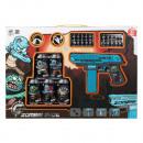 Pistolet à fléchettes bleu Zombie Shot