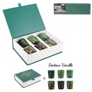 candle box x6 green home deco art, 1-time assor