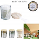 candle glass with pompon ethnical life, 3-times as