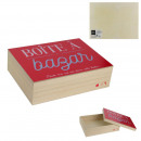 18x24cm wooden box with bazaar, 1- times assorted