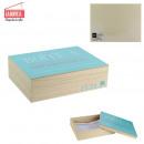scatola di legno ha corrispondenza 18x24cm, assort