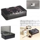 metal chocolate box embossed