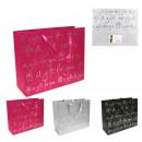 Großhandel Geschenkartikel & Papeterie: Geschenkbeutel 32x26x11cm, 3-mal sortiert