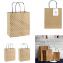 wholesale Gifts & Stationery: Kraft gift bag 18x21x10cm, 2 -times assorted