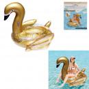 groothandel Sport & Vrije Tijd: opblaasbare matras zwaan glitter goud 181cm