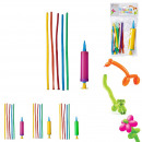 balloon modeling and x15 pump, 3-times assorted