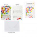 X6 birthday invitation, 1-fold assorted