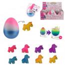 multicolored magic egg unicorn, 8- times assorted