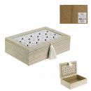 drewniane pudełko z pomponem 24x16x7cm, 1-raz a