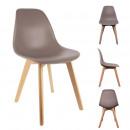 Scandinavian chair shell pp mole, 1-times assorted