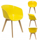 yellow glossy armchair, 1- times assorted