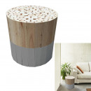Round wooden stool gray, 1-fold assorted