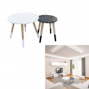 nesting tables tiles round tray x2, 1-fold