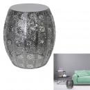 czarny ażurowy metalowy stolik boczny, 1- do razy