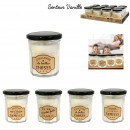 candle jam jar, 4- times assorted