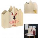 range magazine chic wood chalet 30x10x30cm, 1-fait