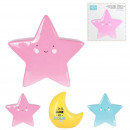 piggy banks moon star kids, 3- times assorted